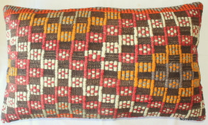 Vintage kilim cover rectangle (40*65cm) #DC6