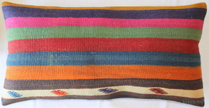 Vintage kilim cover rectangle (40*75cm) #DC8