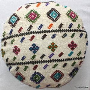Kilim Cushion Cover Round (50cm) #RL7