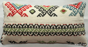 Vintage kilim cover - quarter rectangle (25*50cm) #QR19