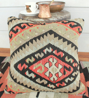 Vintage kilim cover - small (40*40cm) #120