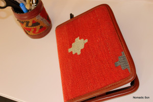 Kilim and leather journals/book covers
