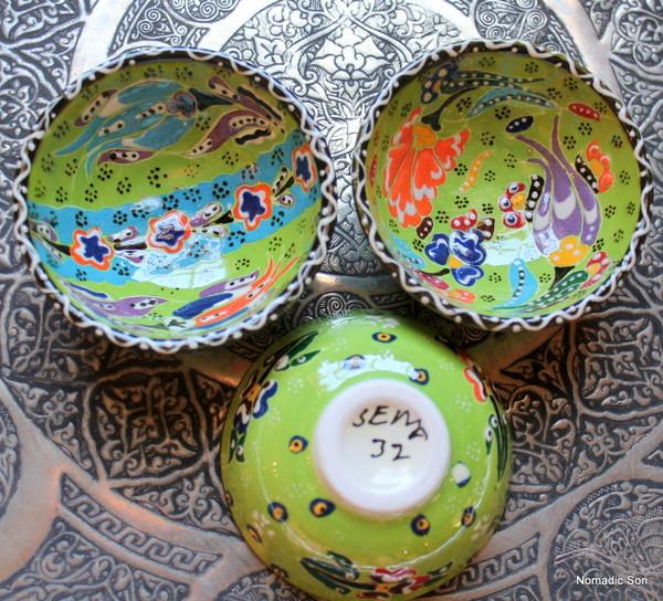 Kabartma ceramic bowls - 7cm