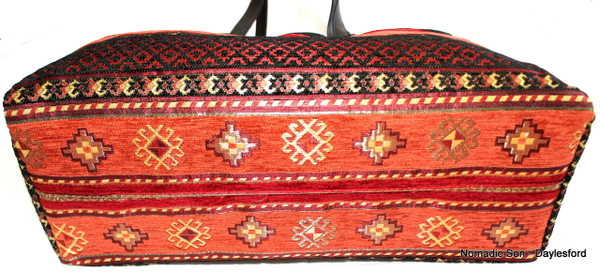 Woven Textile Large Day Bag