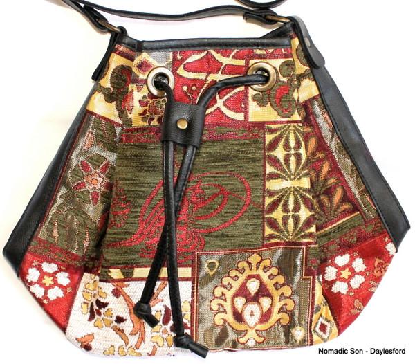 Woven Textile 'Drawstring' Bag