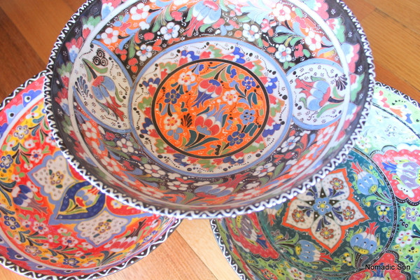 30cm Kabartma Bowls - Handmade and hand painted in Turkey