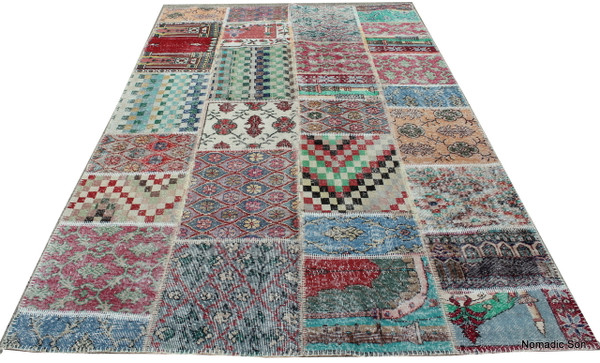 'Istanbul' Carpet Patchwork (#G195) 185*305cm
