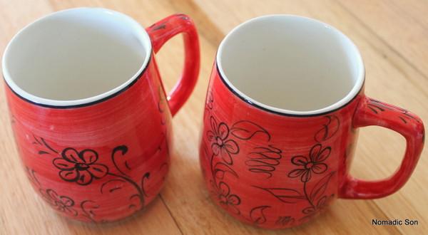 'Mediterranean' ceramic Coffee Cups