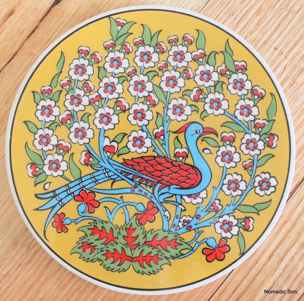 Round Trivet - #27 - Bird with Tree of Life (2 colour option)