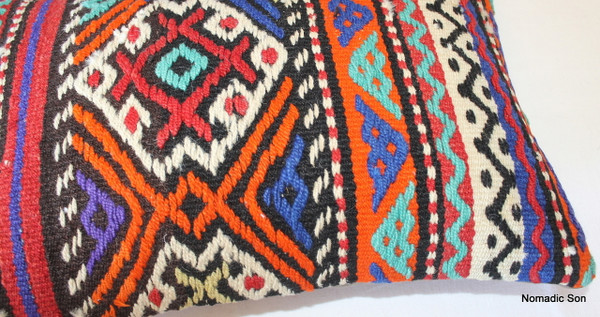 Vintage kilim cover rectangle (35*50cm) #TR12