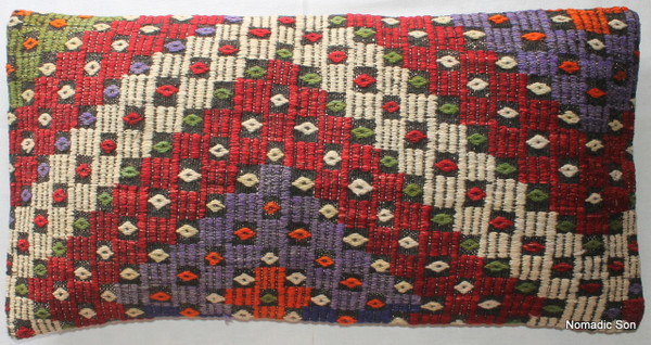 Vintage kilim cover rectangle (40*80cm) #LR25