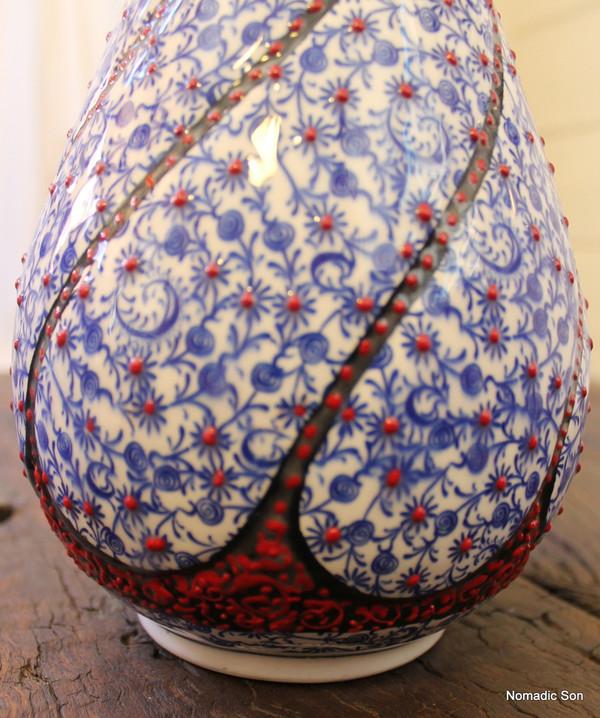 'Bursa' Swirled Vase - 40cm