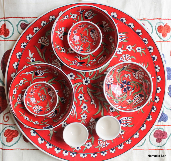 Soloman's Platter Set in Red