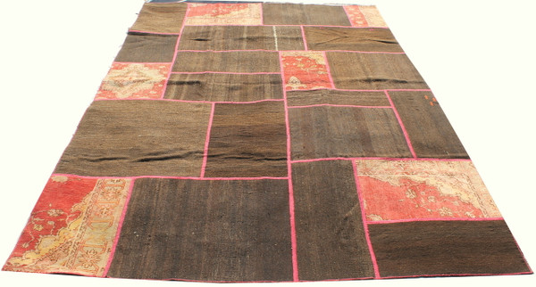 Natural Patchwork Kilim (#J165) 198*300cm