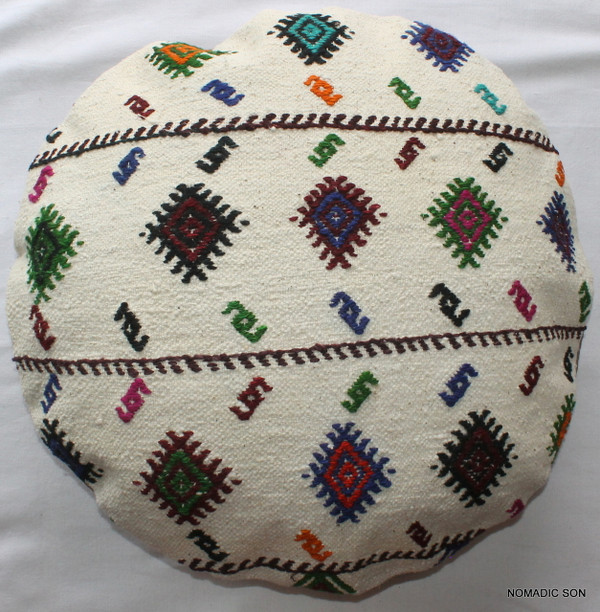 Kilim Cushion Cover Round (50cm) #RL2