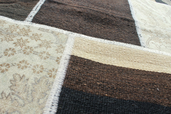 Square Natural Patchwork Kilim (#J179) 196*197cm