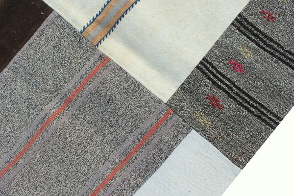 Natural Patchwork Kilim (#J224) 203*296cm
