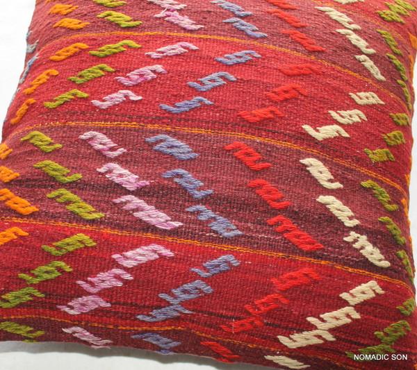 Vintage kilim cover - medium (50*50cm) - #FF202