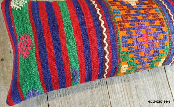 Vintage Kilim cover rectangle (30*70cm) #L3734