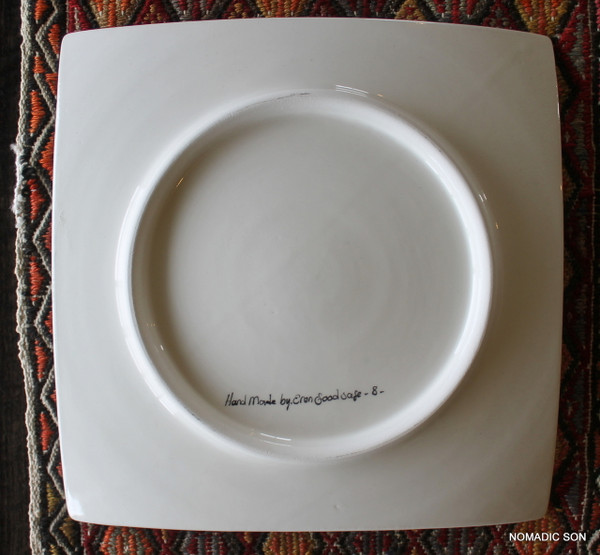 Soloman's Square Platter (Medium, 20cm) - Hand painted - Food safe