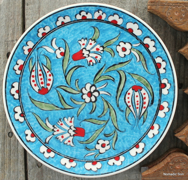 Soloman's Square Plate (18cm) - Hand painted - Food safe