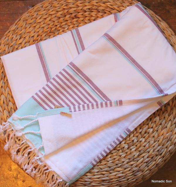 'Ocean' 100% cotton beach towel (terry & peshtemal) (95*180cm)