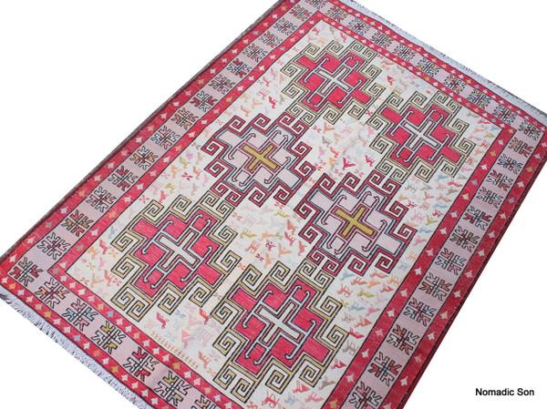 Silk soumak (#a196) 101*141cm