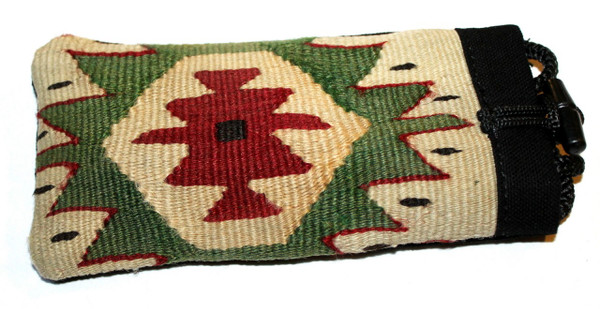 Kilim and cotton necktie glass holders