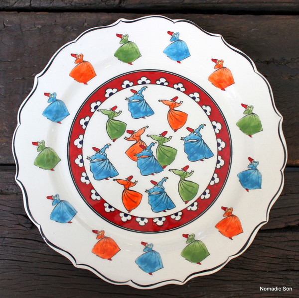 Sufi - Whirling Dervish plate - 30cm  sc 1 st  nomadic son : ceramic plates to write on - pezcame.com