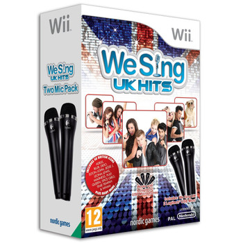 We Sing UK HITS Game Bundle + 2 Microphones (Wii) (Wii U)