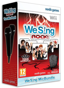 We Sing ROCK Game Bundle + 2 Microphones (Wii) (Wii U)