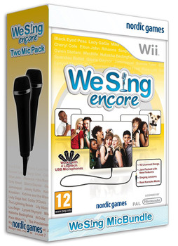 We Sing ENCORE Game Bundle + 2 Microphones (Wii) (Wii U)