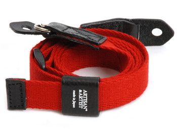 Artisan & Artist Camera Strap - 103N Woven Cloth Strap. (Red Only)