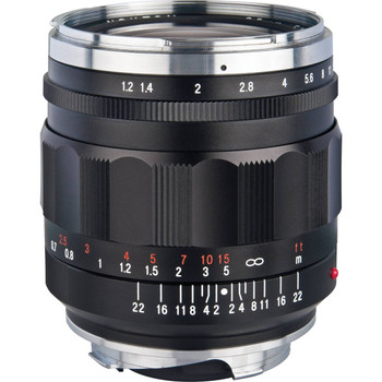 Voigtlander 35mm f/1.2 Nokton Aspherical II Lens (Black) - M Mount