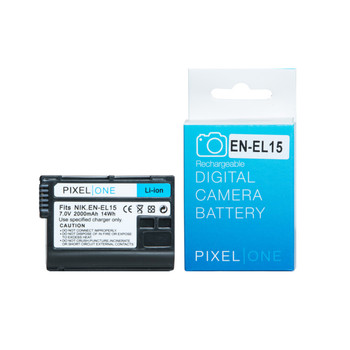 Pixel One replacement Nikon EN-EL15 Lithium-Ion Battery