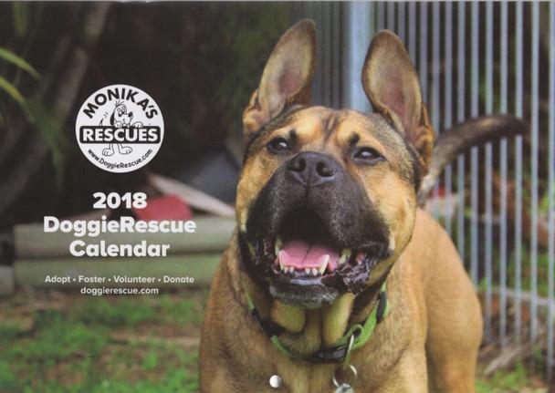 DoggieRescue.com 2018 Calendar (Free postage + 100% Donated)