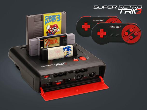 Super Retro Trio PAL 3-in-1 [Nintendo NES + SNES + Sega Megadrive/GENESIS] Video Game System Console