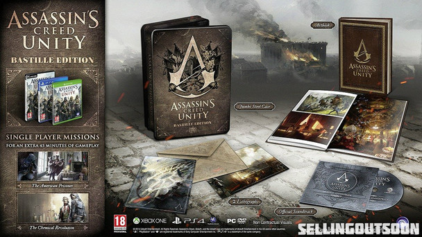 Assassin Creed Unity Bastille Edition (PC) Rare Australian Collectors Edition