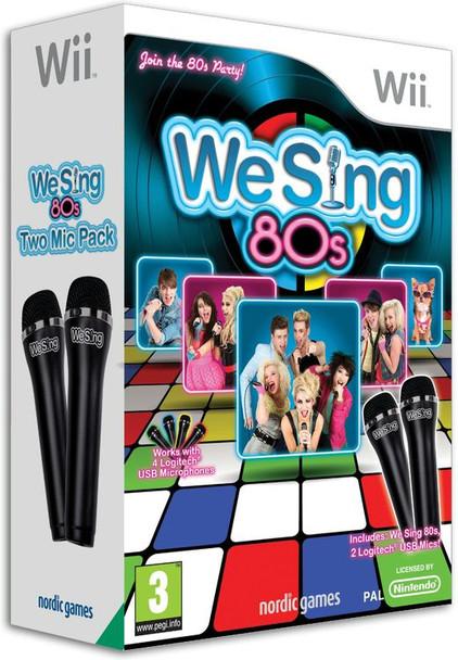 We Sing 80s Game Bundle + 2 Microphones (Wii) (Wii U)