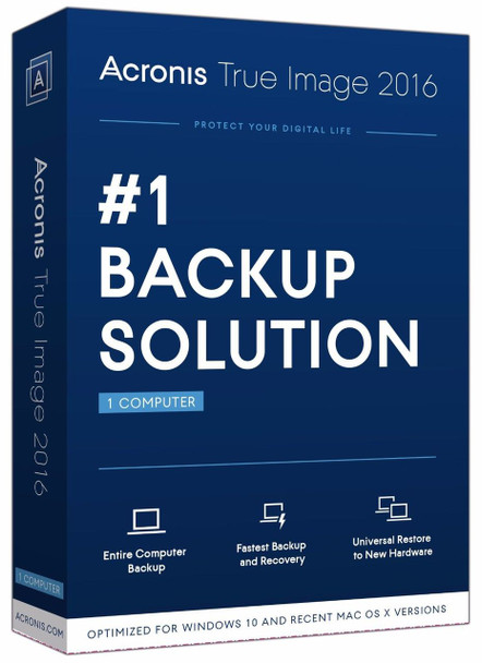 Acronis True image 2016 (PC & Mac) Bootable Backup Software, OSX Windows XP 7 8 10 Australia