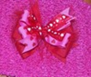 Red and Pink Heart bow