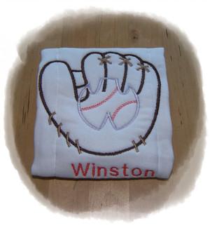 Baseball Glove Burp Cloth