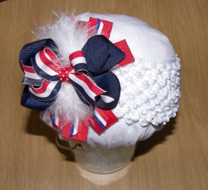 Red, White and Blue stripe Headband