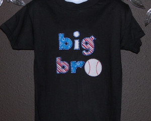 Big Bro  lil bro baseball shirt ,