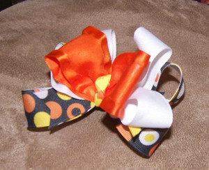 Bubbles of Fun fall bow