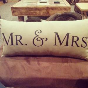 Mr & Mrs Pillow oblong