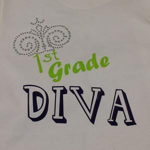 K,1st, 2nd, 3rd , 4th grade DIVA shirt