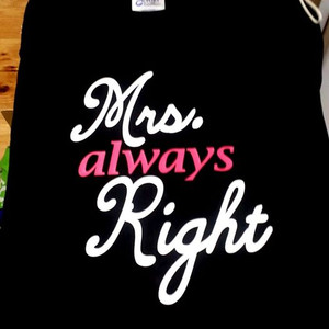 Mr or Mrs Right shirt