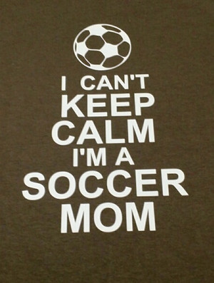 I can't keep calm soccer shirt
