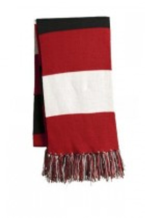 Red, White and Black Scarf
